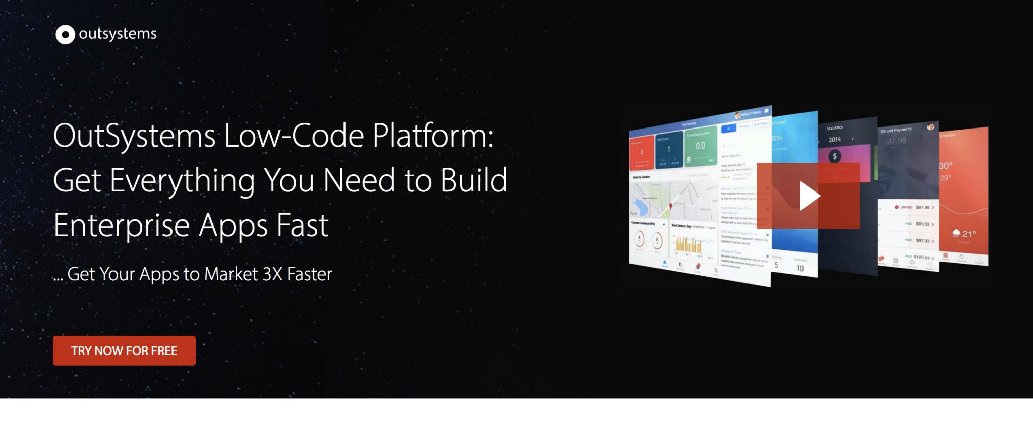 Low Code Platform SAAS Landing Page