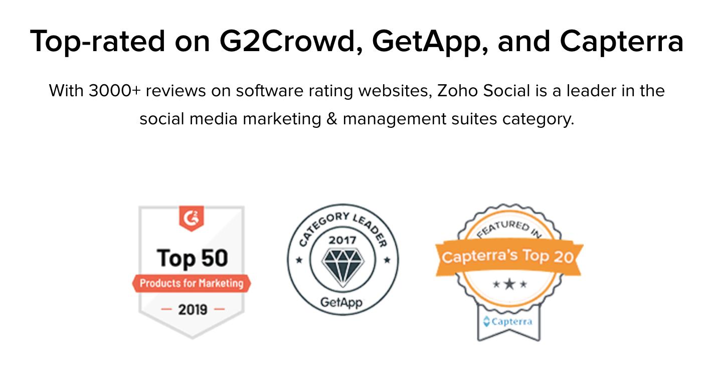Zoho review awards
