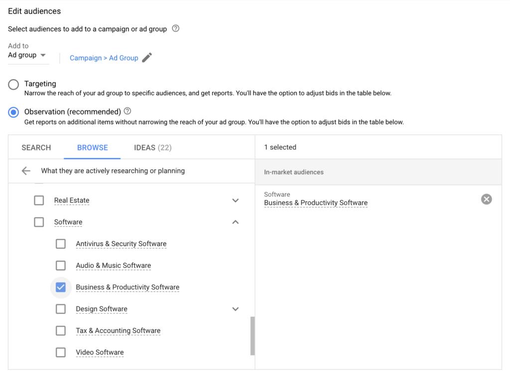 Google Ads Audiences - Targeting or Observation?