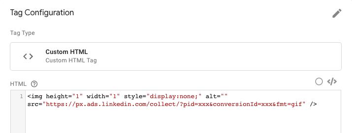 Linkedin Ads PDF tracking tag