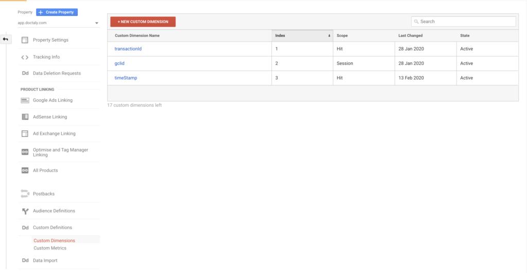Custom Dimensions in Google Analytics