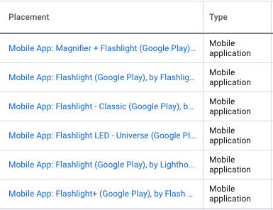 Flashlight mobile apps